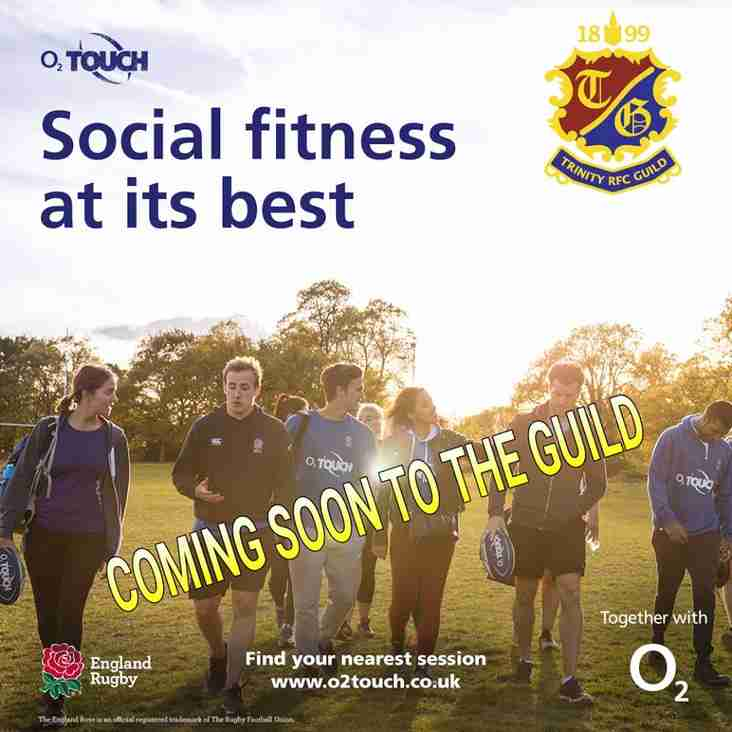 Coming soon to the Guild, O2 touch rugby!