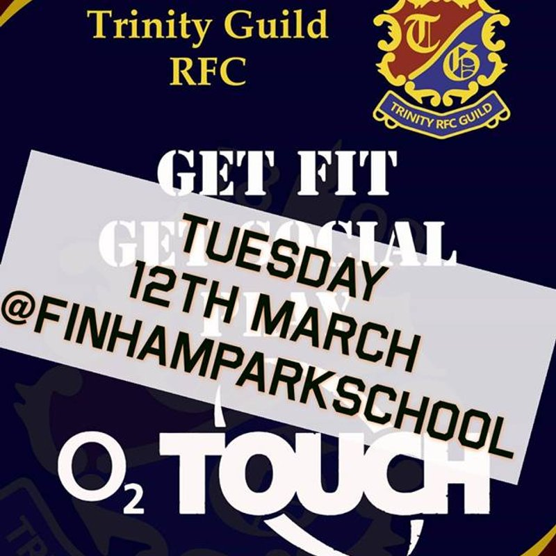 The Guild O2 Touch rugby starts tonight!