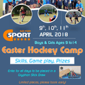 Easter Hockey Camps  -9th , 10th, 11th April