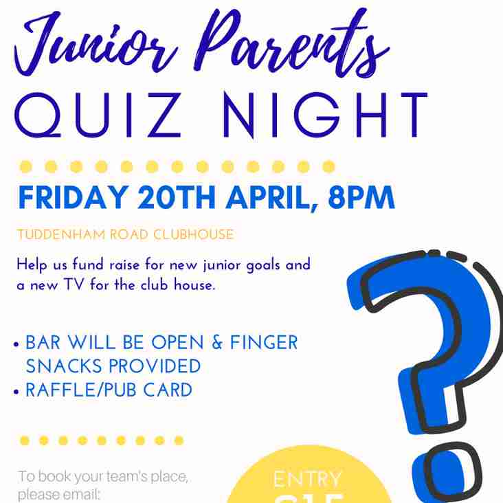 Junior Parents Quiz Night