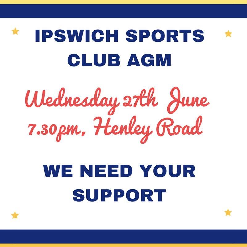 Ipswich Sports Club AGM