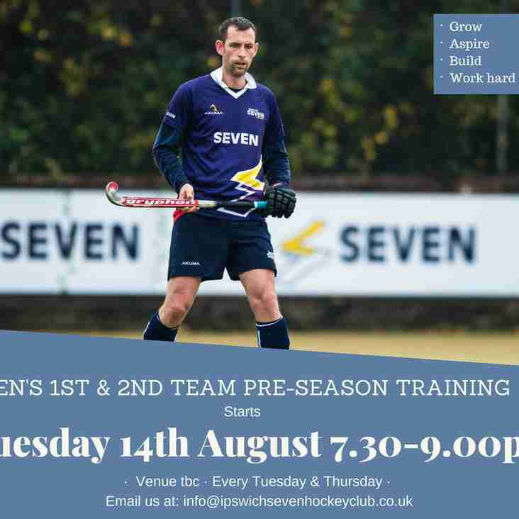 Men's 1st and 2nd team pre-season training