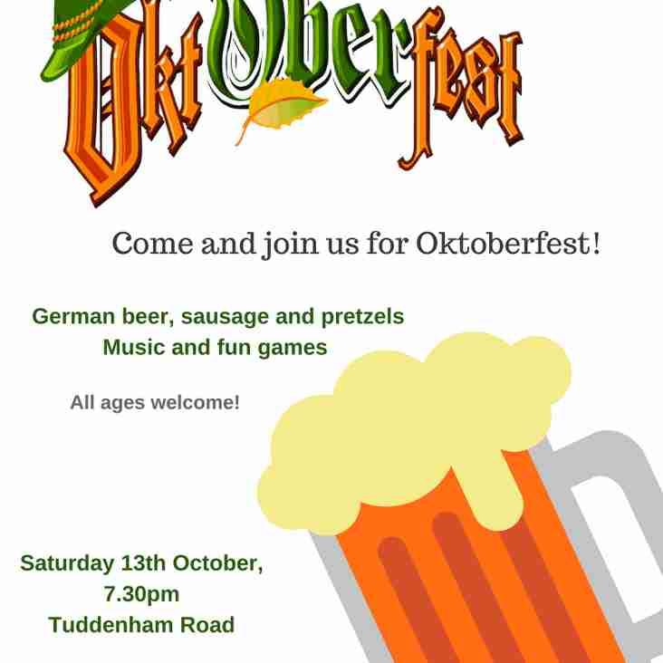 Our next social is Oktoberfest