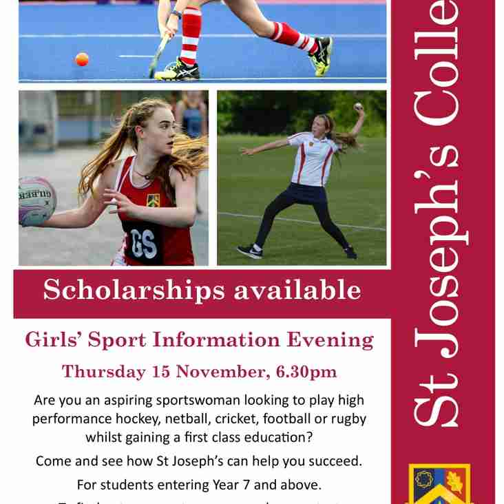 St Joseph's College Sport Scholarships