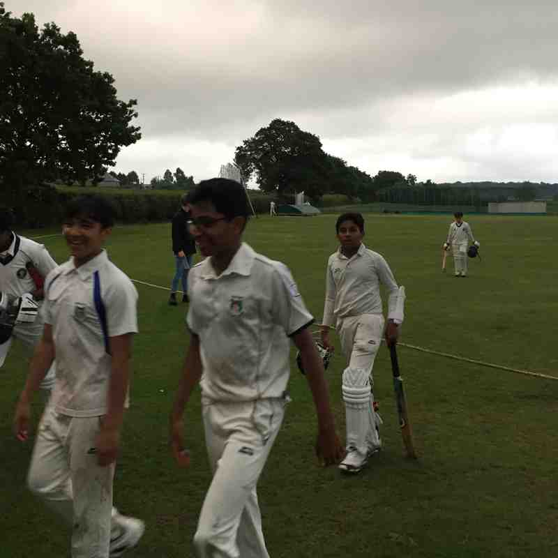 DIdsbury C.C wins against Ashley C.C (U-14) Cup match at Ashley Cricket Ground-May 30,2017