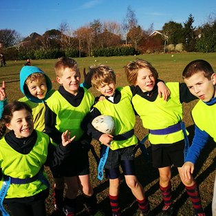 Cracking rugby in the sunshine today