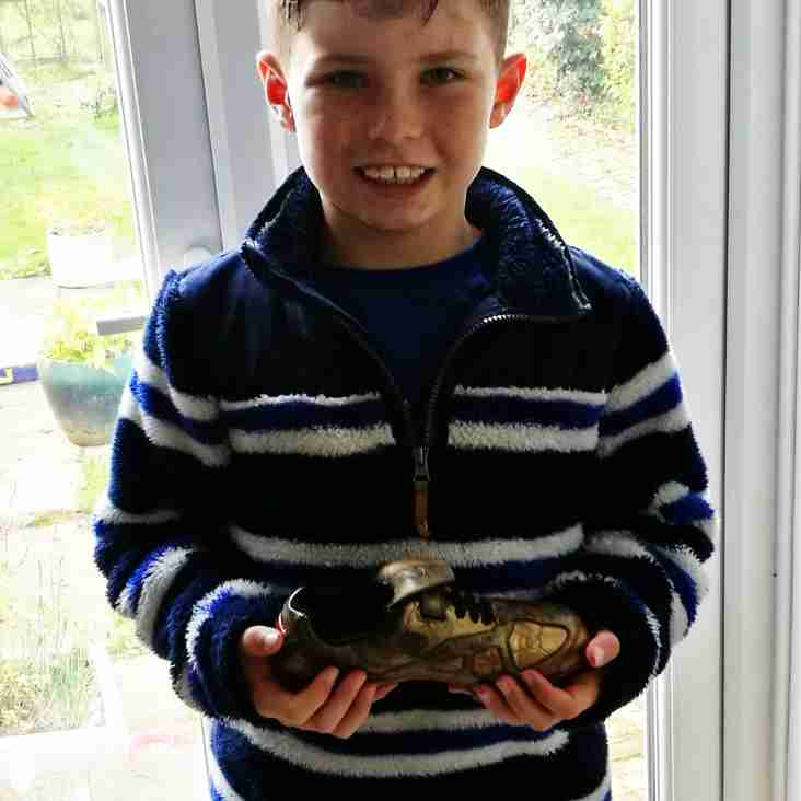 The U9s Sticky Golden Boot Winner this week is...