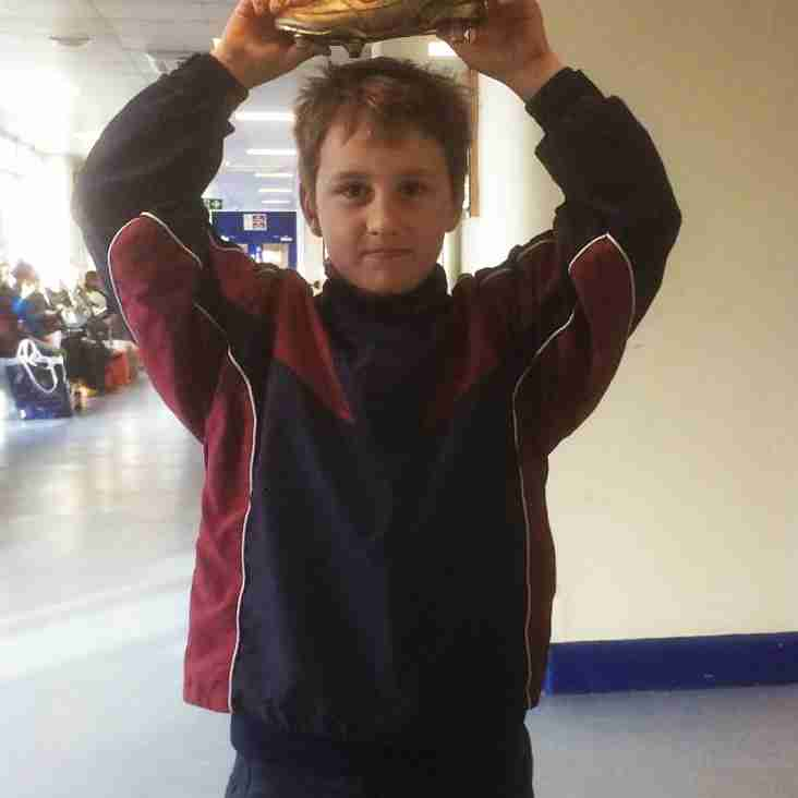 U9s Golden Boot Winner Nov 26th...