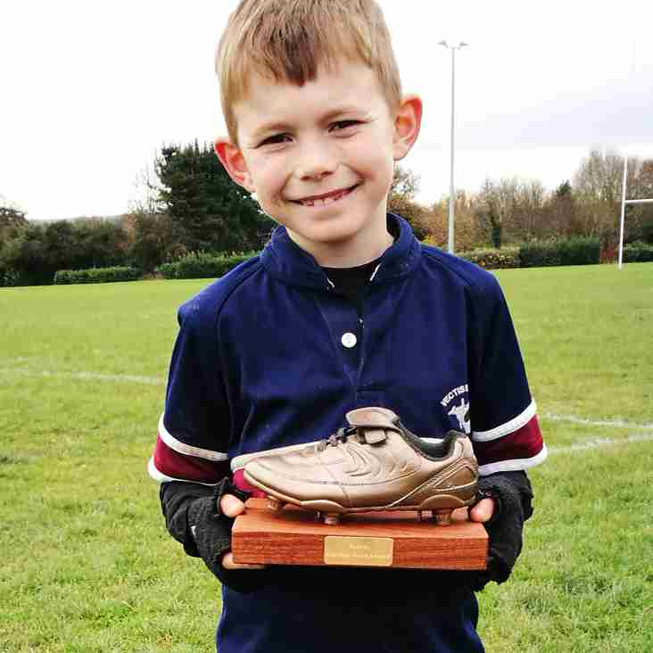 The under 9s Dec 3rd Golden Boot winner is...