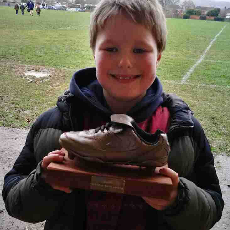 The Under 9s Christmas Golden Boot winner is...