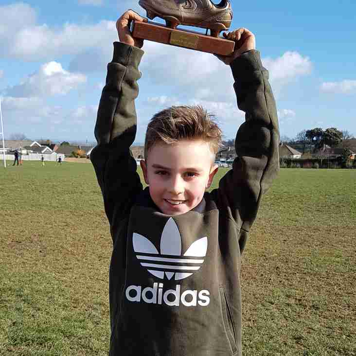 And the under 9s golden boot winner for Feb 11th is...