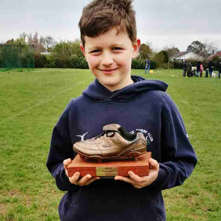 Under 9s Golden Boot winner for April 15th...