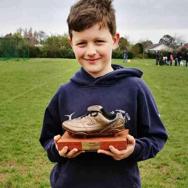 Under 9s Golden Boot winner for April 15th...