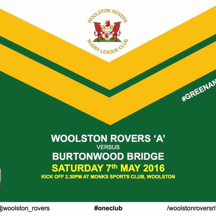 Woolston Rovers 'A' v Burtonwood Bridge