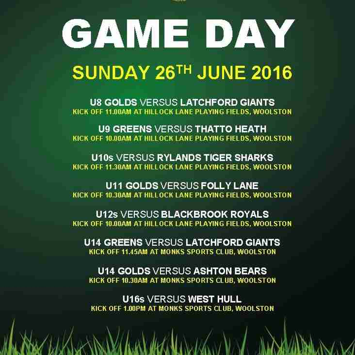 GAME DAY 26.06.2016