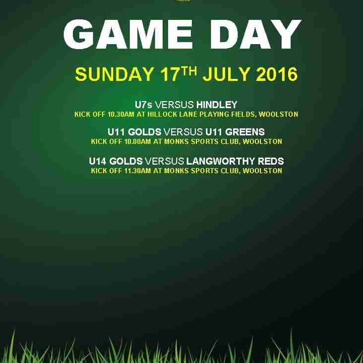 GAME DAY 17.07.2016