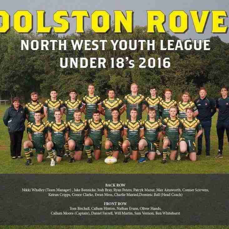 RYLANDS SHARKS UNDER 18s 34 WOOLSTON ROVERS UNDER 18s 28 (after extra time)