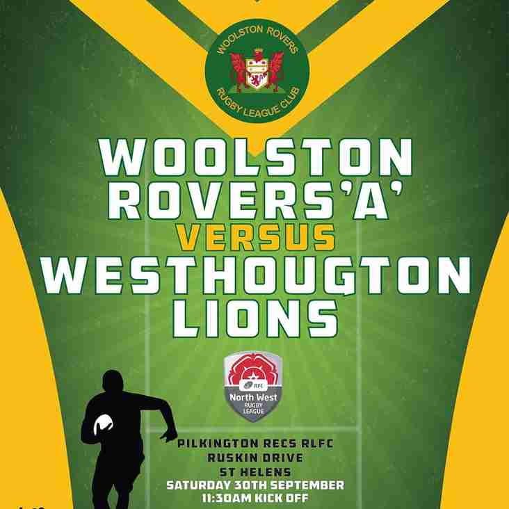 WOOLSTON ROVERS 'A' v WESTHOUGHTON LIONS