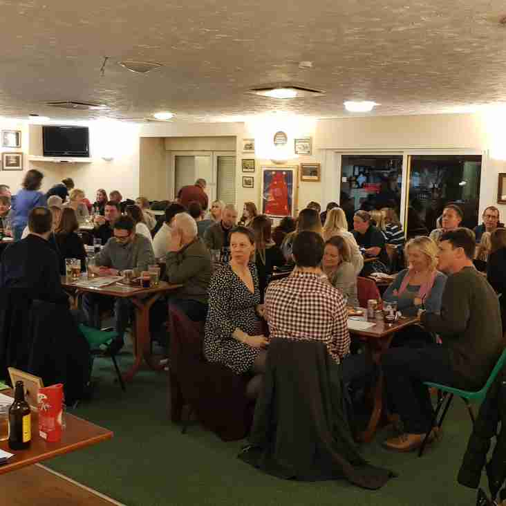 Quiz night a great success - Clubhouse mobbed.