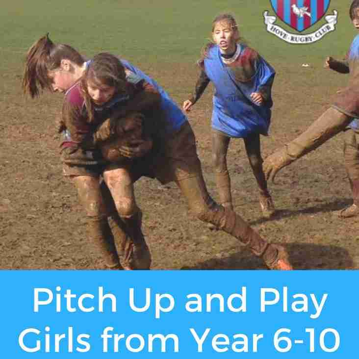 Pitch Up & Play girls this Sunday