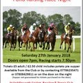 Tennis Section Fund Raising Race Night Saturday 27th January
