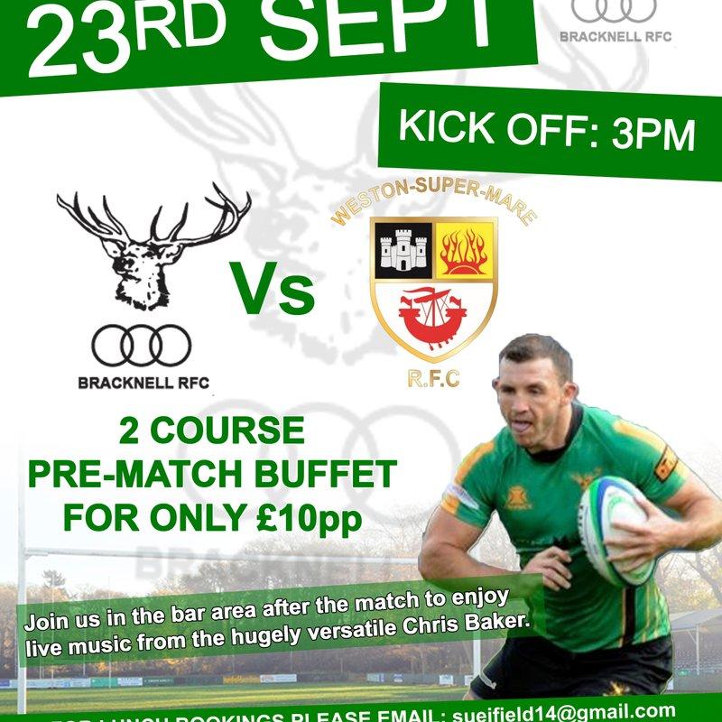 Pre Match Lunch - 1XV vs Weston-super-Mare