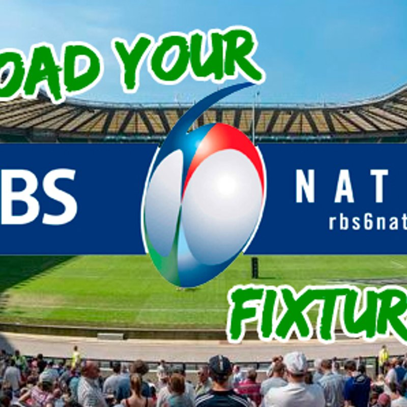Download your RBS 6 Nations Fixtures List