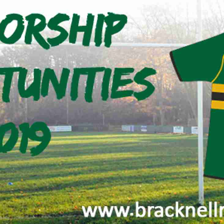 Sponsorship Opportunities  for 2018/2019