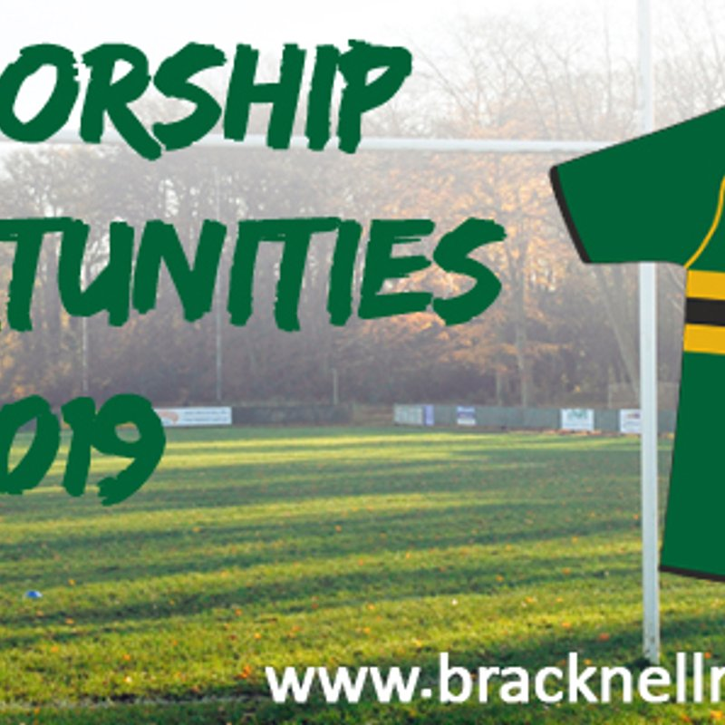 Sponsorship Opportunities  for 2018/2019