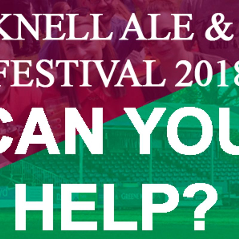 Ale & Cider Festival needs your help...