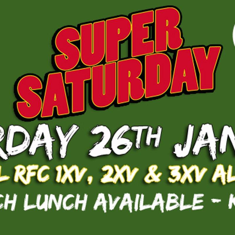 Super Saturday - 26th January