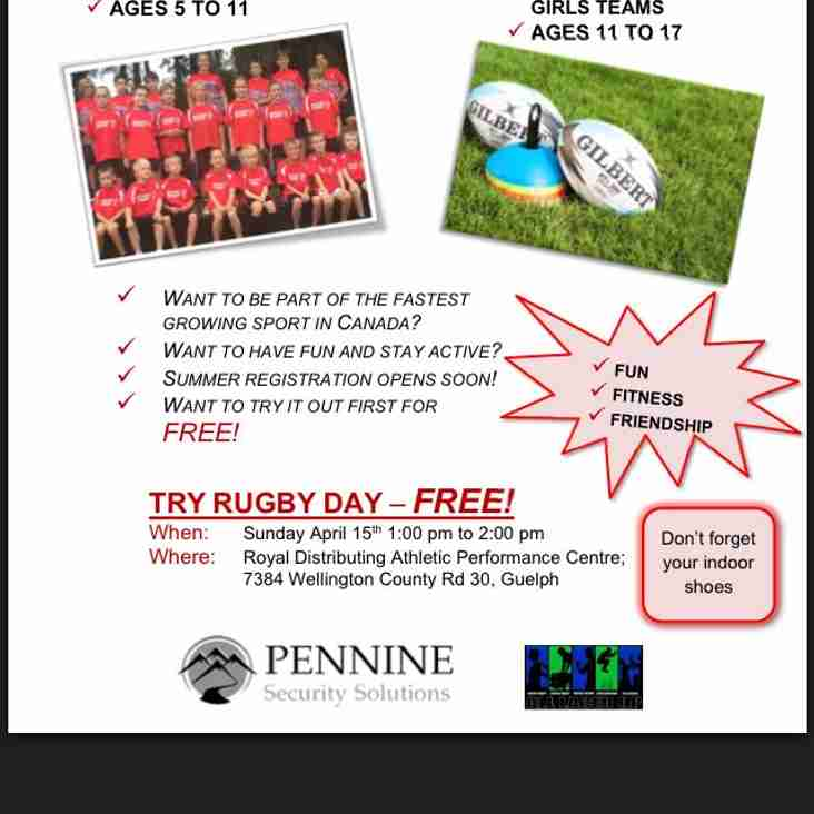 Try Rugby Day - April 15, 2018