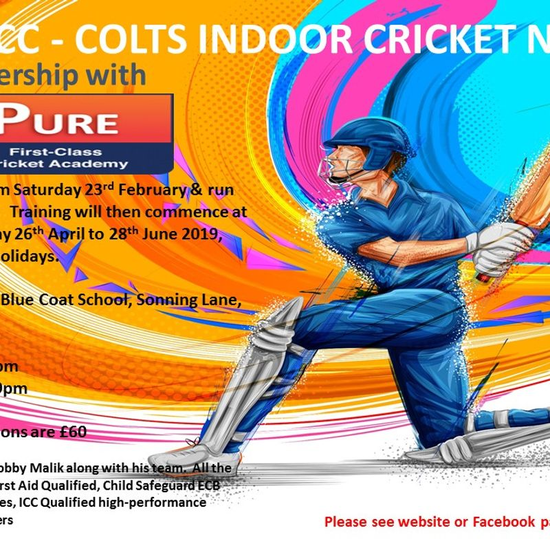 COLTS INDOOR CRICKET NETS - 2019