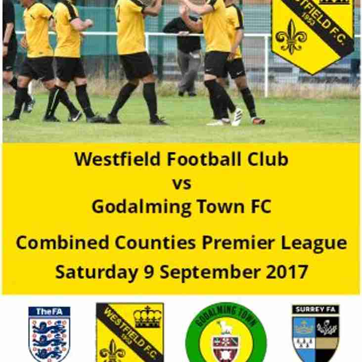 Match-day today v Godalming Town