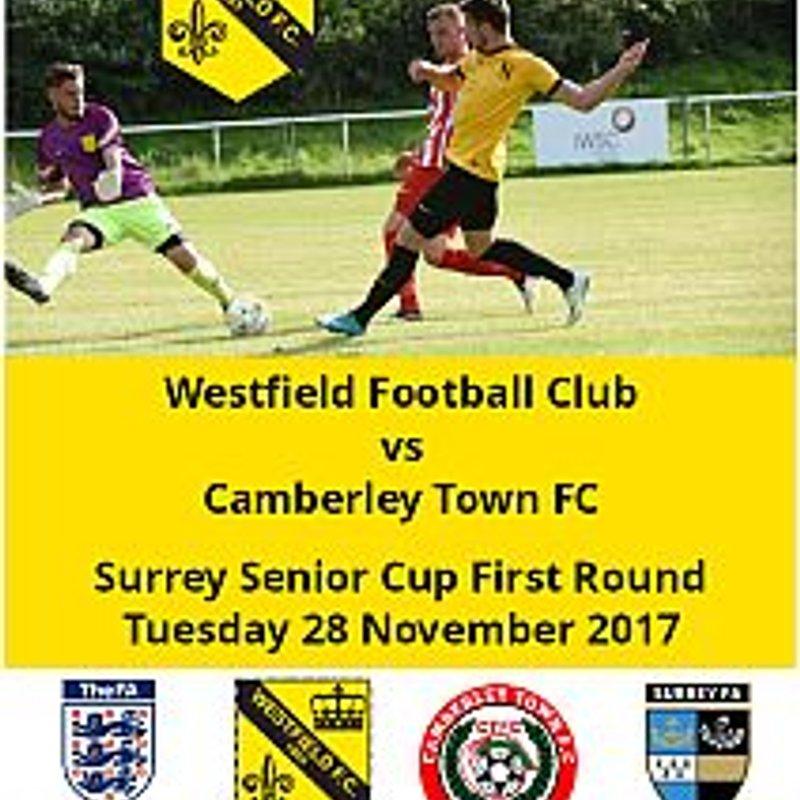 Surrey Senior Cup tomorrow