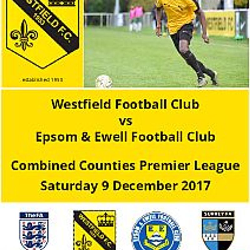 Westfield vs Epsom & Ewell tomorrow