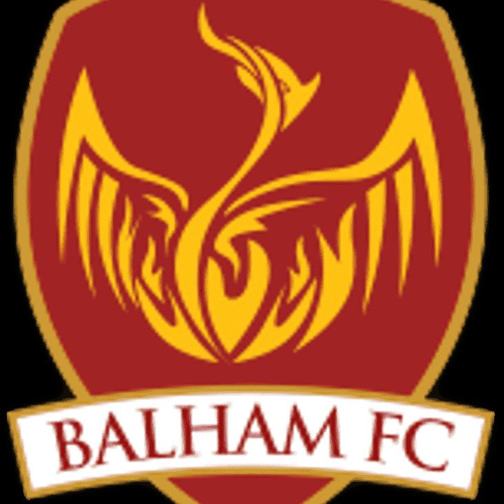 Tonight vs Balham FC is postponed
