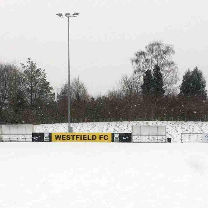 Home game tomorrow vs Walton & Hersham is postponed
