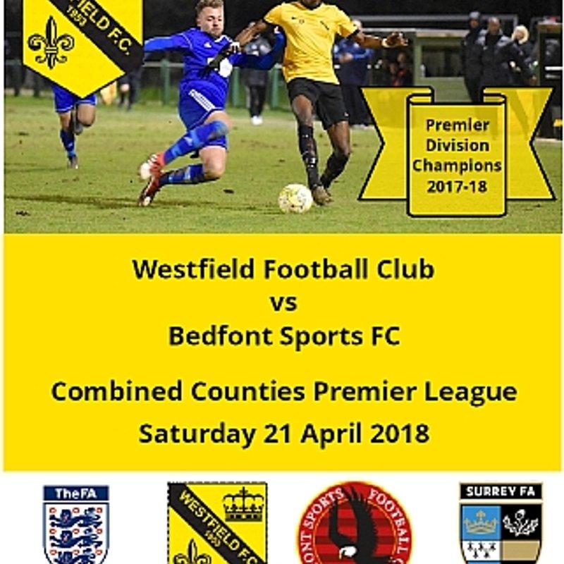 Westfield vs Bedfont Sports Saturday 21 April