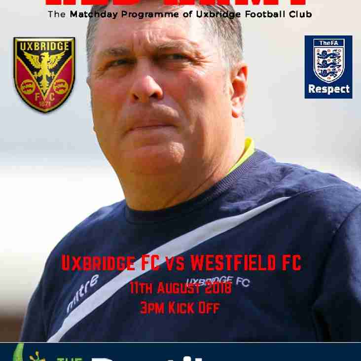 Uxbridge away programme now available to download
