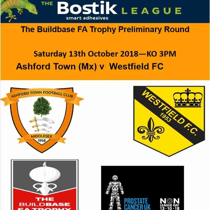 Ashford Town away today in the FA Trophy