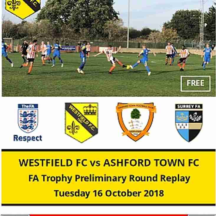 FA Trophy this Tuesday 16 October