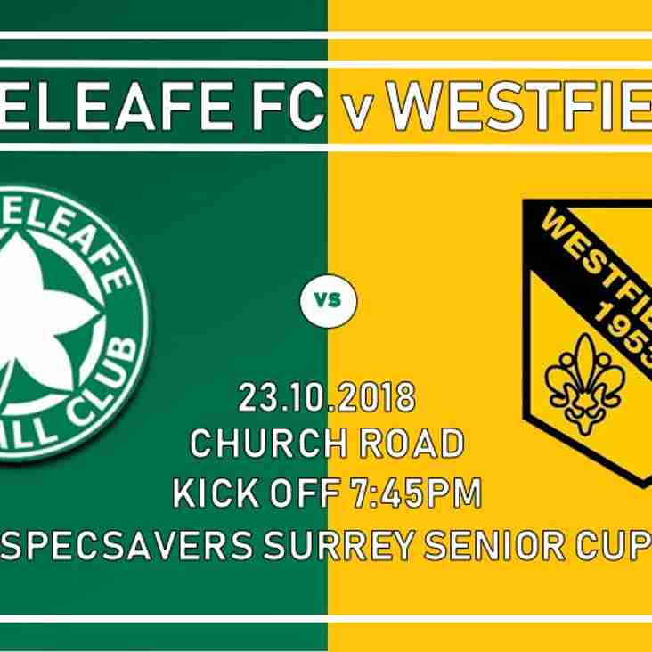 Surrey Senior Cup at Whyteleafe on Tuesday 23rd