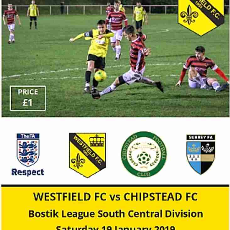 Westfield vs Chipstead today (Saturday 19th)