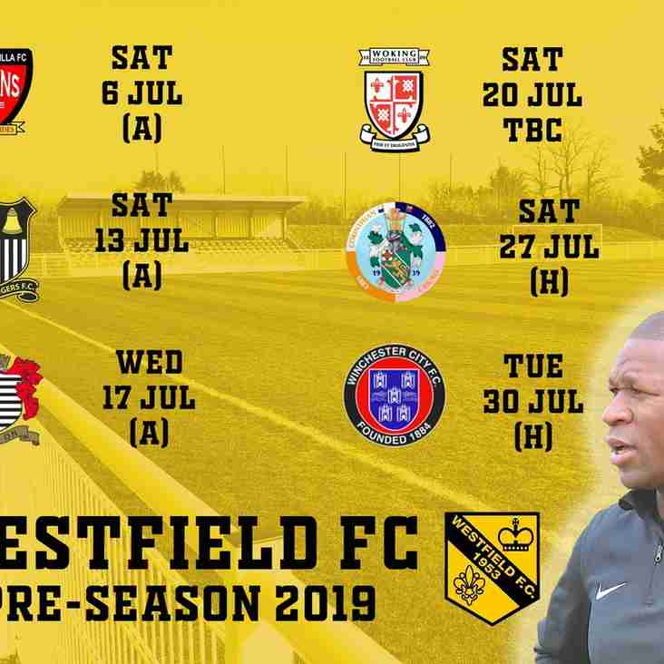 Pre-season friendlies 2019