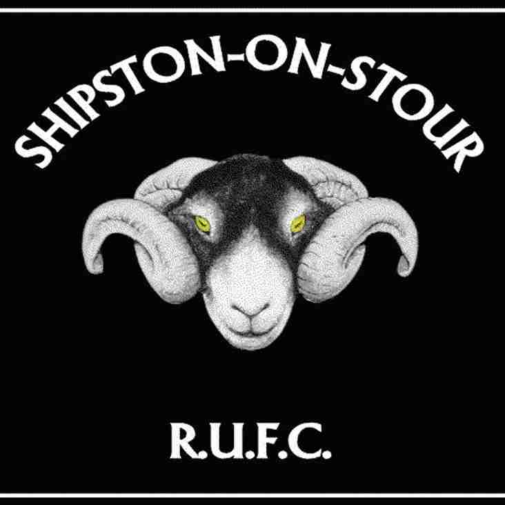 Dees travel Away to Shipston-on-Stour in RFU Cup - Sat 16th Sept