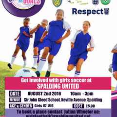 Lincs FA/Tesco Skills Day with Girls & Goals Event - August 2016