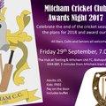 Mitcham CC End of Season Awards Night - Tonight Friday 29th September 2017
