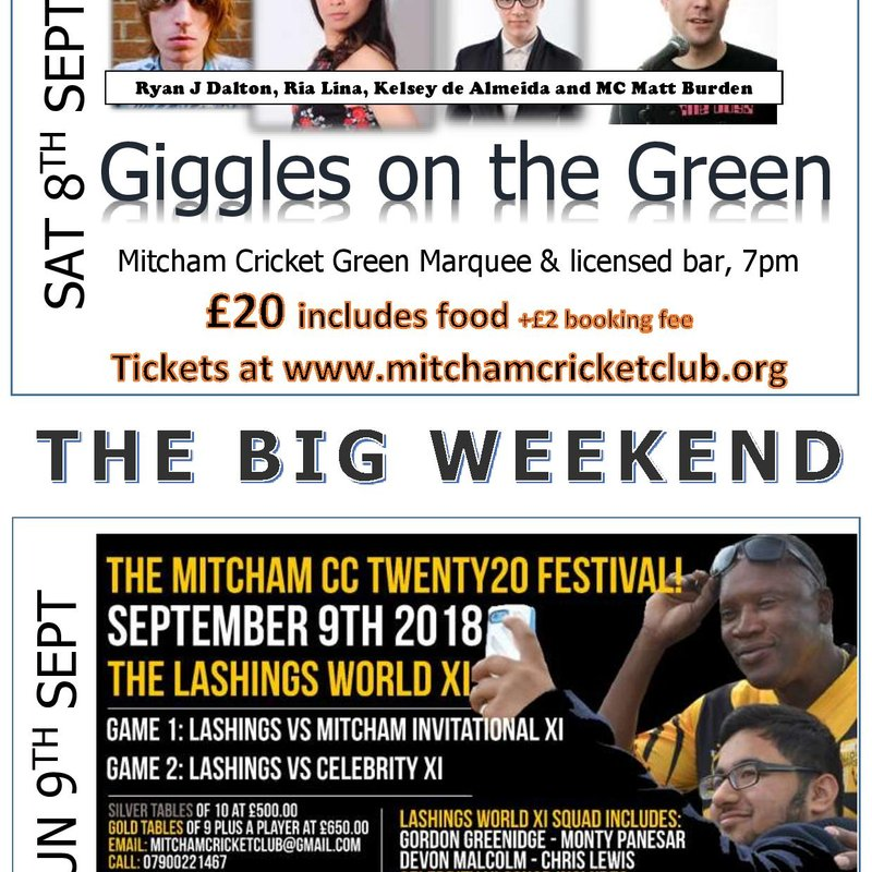 Mitcham CC Big Weekend 7-9 Sept 2018