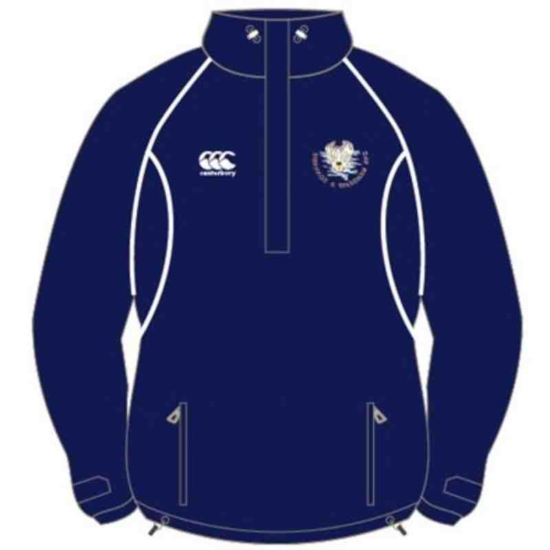 CANTERBURY KIDS SWANAGE & WAREHAM RFC CLASSIC QUARTER ZIP RAIN JACKET